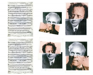 Violoncelle solo, musique doublement à l'envers 1979-1996, remake 1997. Musique non séductive, partition, sculpture génétique 1971 Mahler croisé Bartok, remake 2011