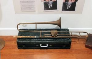 instrument de musique modifié, art syncrétique 1964, trombonne croisé flute à bec, en remake 2011