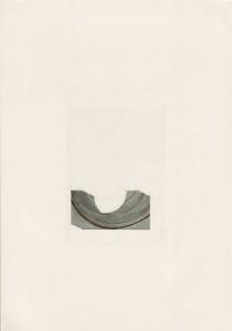 Raphaël Van Lerbeghe Half pipe, 2010 Papier découpé et dessin sur papier et carte postale 29,7 x 21 cm