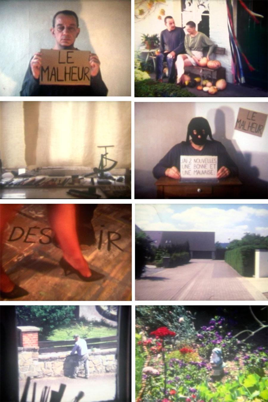 Pol Pierart, le malheur, le bonheur, 6 min 36, couleurs, sans son, 2001