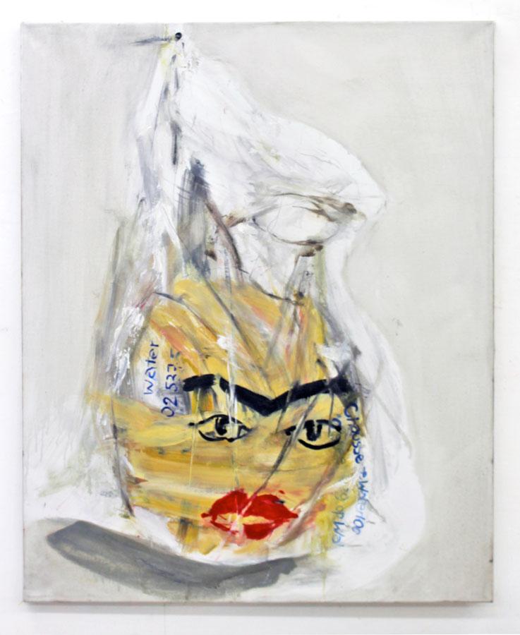 Lopez Menchero Emilio Plastic Bag 2012 huile sur toile 100 x 80 cm