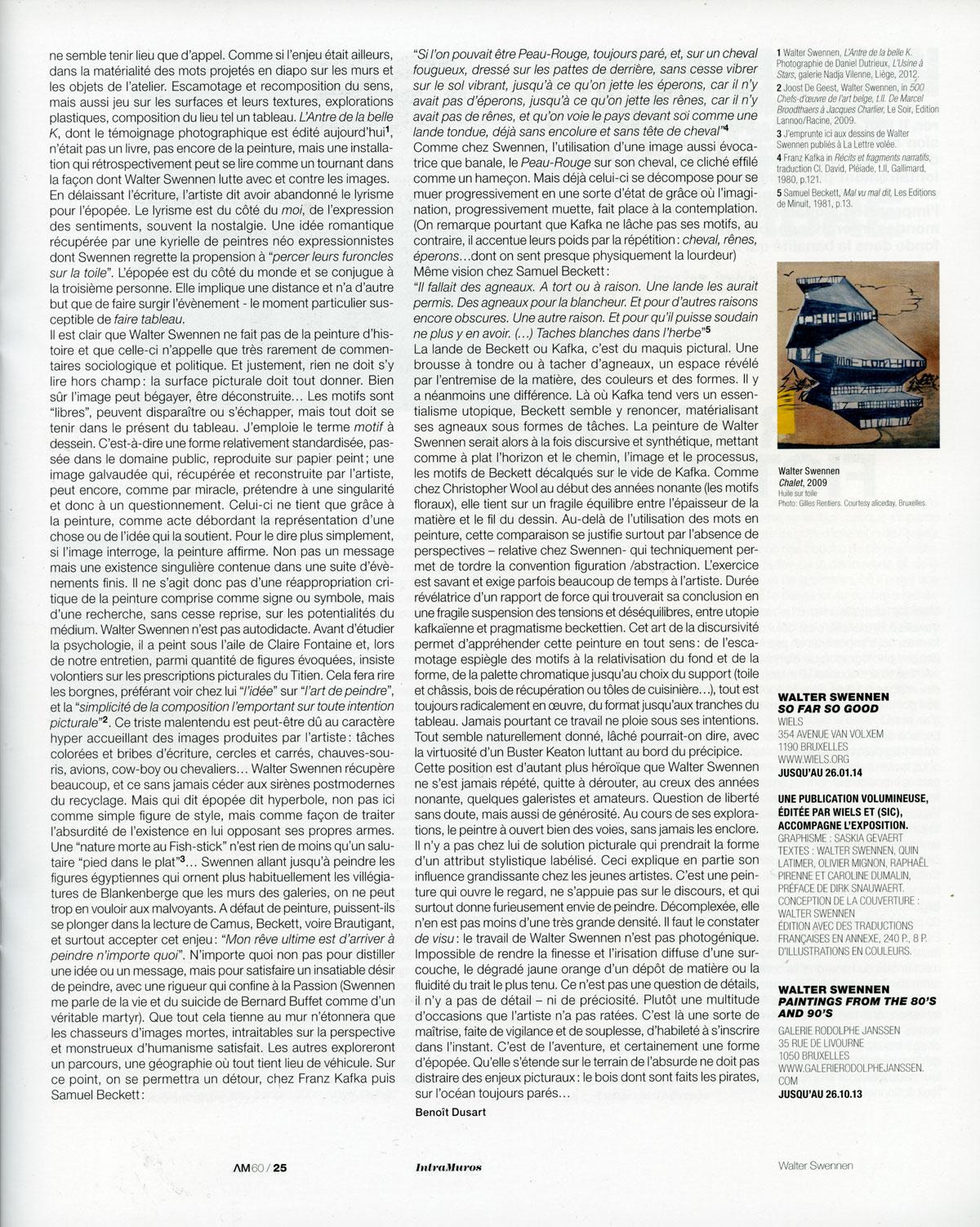 Walter Swennen | NadjaVilenne – Le Blog | Page 6